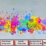 Paint Drops design intro