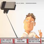 Selfie with 3D Character Intro